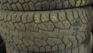 Hankook P265/70/18=75% tread=2 tires $200 These have been gauged