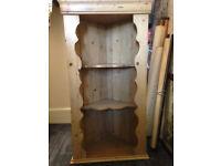 ANOTHER PRICE DROP Antique/Vintage Pine Rustic Corner Shelf/Storage/Architectural Piece