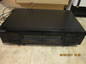 SONY TC-WE405 Stereo Dual Cassette Deck Auto Reverse Bi-Direct