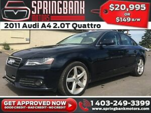 2011 Audi A4 2.0T Quattro w/Leather, Sunroof $149B/W INSTANT APP