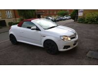 Hot WHITE convertible with RED cloth roof, Rare Rouge model, Half leather sports seats
