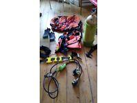 Diving Gear, regulator, bcd, fins, tank, weight belt, gloves, bag