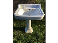 Victorian basin and pedestal