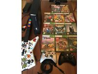 Xbox 360 Slim 4GB with 20GB HDD, Kinect, 10 Games, 2 wireless controllers & Guitar