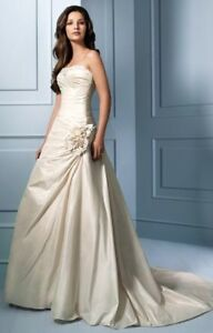 Alfred Angelo champagne wedding dress size 6 -$295