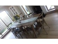 Made in Britain Bespoke Dining table with 8 chairs