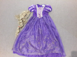 Girls Rapunzel Tangled Costume (Size 7-8)
