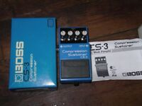 GREAT CONDITION BOSS CS3 COMPRESSION SUSTAINER (BOXED)