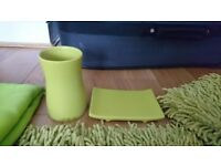 Bathroom Accessories Set Bathmats Shower Curtain Bin