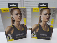 Two Brand-New Pairs of Jabra Headphones (with in ear heart rate monitors)