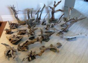 19mcx Bois Flotté Accessoire sur base Aquarium Driftwood w/base