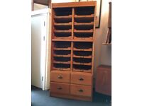 1930's Oak Framed 'Gentleman's Outfitters' Haberdashery Cabinet. Vintage/Retro/Mid Century/Antique