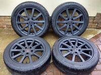 """17"""" Wolfrace Alloys / Tyres 5x114.3 Honda Lexus Mazda Nissan Toyota"""
