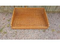 Large wicker basket for storage or dog bed