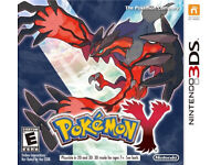 Pokemon Y Nintendo 3DS game cartridge