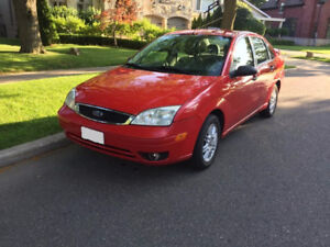 REDUCED TO SELL - 2007 Ford Focus SE Sedan - SAFETY CERTIFICATE