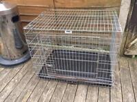 medium sized rosewood dog cage £15