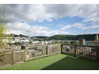 3 Bedroom House in Central Dartmouth with River Views, Terraced Garden and Garden Room