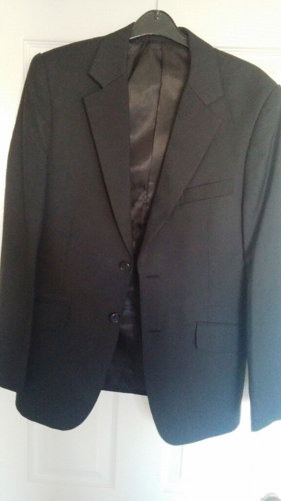 Tailored Dark Grey Black Suit Jacket 36 Regular - Excellent Condition