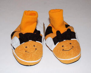 $8 NEW Baby GAP Bumble Bee Fleece Soft Soled Slippers XLG 11