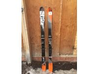 Faction Park Skis, 163, very good condition, twin tip, need wax, New Tyrolla attack 11 bindings