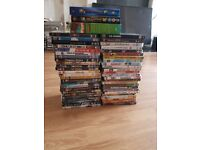 50 movie dvd's. Most hardly watched and 3 animated boxsets.