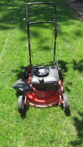 older homelite quantum 4HP gas lawnmower, easy pull start