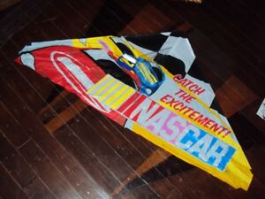 Large Nascar Kite almost 3 ft wide, great day for kiteflying!