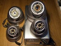 CCTV SECURITY SYSTEM INCLUDING 4 CAMERAS, RECORDER AND MONITOR