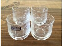 Bohemia Crystal Small Liqueur Glasses x 4 - £20 ono
