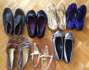 Lot of 7 shoes - sizes 5, 5.5 and 6