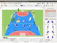 GESTICS HANDBALL - Make graphics sports exercises, draw sport hand ball