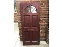 Solid wooden mahogany front door