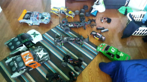 3 Rc cars, body's and parts