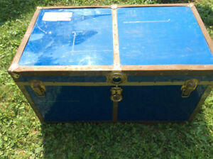 Old shipping trunk