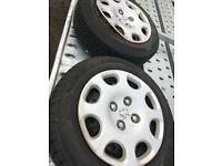Peugeot 206 steel wheels with very good tyres plenty tread left