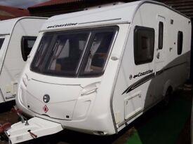 2008 Swift Coastline 470 SE Lightweight 4 Berth Fixed Bed Caravan with Motor Mover