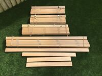 Wooden / Wood Blinds in various sizes