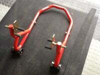 Motorcycle paddock stand, as new!