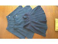 3 Grey School Skirts - Age 12