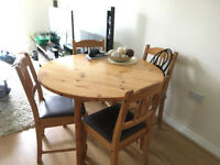 WOODEN KITCHEN TABLE+4CHAIRS
