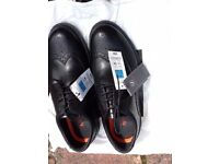 Brand New- Mens-Black Leather Brogue Syle Shoes-Size 8-£25-Free P&P