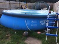 16 Foot Easy Set Pool, Filter Pump, Cover, Ladder etc