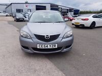 MAZDA 3TS 1.6 PETROL 5DOOR GREY CE54YZR.VEHICLE COMES WITH 12 MONTH MOT.