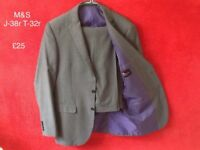 Marks and Spencer suit, hardly worn and like new, info on pic