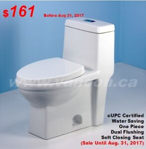 One Piece-Quality-Soft Closing-Water Saving Toilets from $116