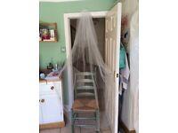 Full length Joyce Jackson wedding veil