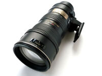 Nikon 70-200mm f2.8 G AF-S VR IFED zoom lens