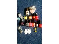 bundle of nail polish