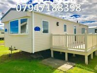 😀😀Bargain DG & CH static caravan with decking for sale on stunning sea view pitch 12 months😀😀